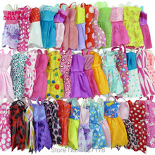 Random 12 Mix Sorts Beautiful Handmade Party Dress Fashion Clothes For Barbie Doll Kids Toys Gift Play House Dressing Up Costume(China)