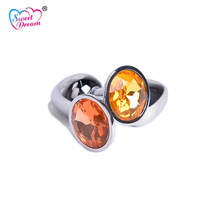 Buy Sweet Dream 2.8x7cm Small Crystal Jewelry Stainless Steel Anal Plug Adult Butt Plug Sex Toys Women Sex Products BLM-204