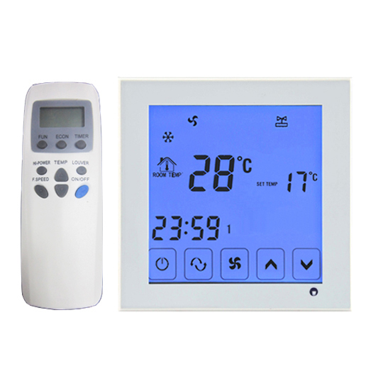 2p 4p touch screen Fan coil program thermostat temperature controller with remote<br>