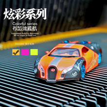 1:32 Alloy car model Bugatti Veyron The door can be opened Sound and light back to power Children's car toys(China)