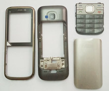 New Brand High Quality Phone Housing Case For Nokia C5 C5-00 Replacement Parts With Keyboard + Side Buttons