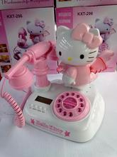 Hello kitty cartoon telephone for kids children  telefones para casa telefone fixo telephone fixe sans fil Telefonos pink white