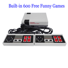Mini TV Game Console Retro Handheld Video Game Console For Nes Games With Built-in 600 Different Games PAL&NTSC dual gamepad(China)