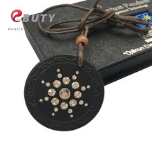 EBUTY Scalar Quantum Energy Pendant Japanese Science Technology Pendants With FIR Stone With Rope Chain Necklace(China)