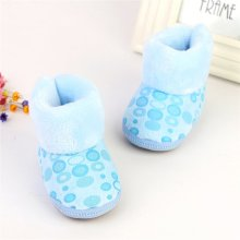 Baby Girl Snow Boots Toddler Infants Anti Slip Winter Fleece Shoes Zipper Prewalker