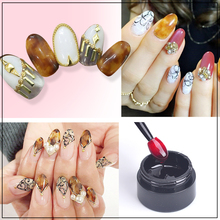 1bottle Nail Art Amber Looks LED UV Nail Polish Gel Color Nail Art Decoration Beauty Tools Soak Off Nail Painting Gel