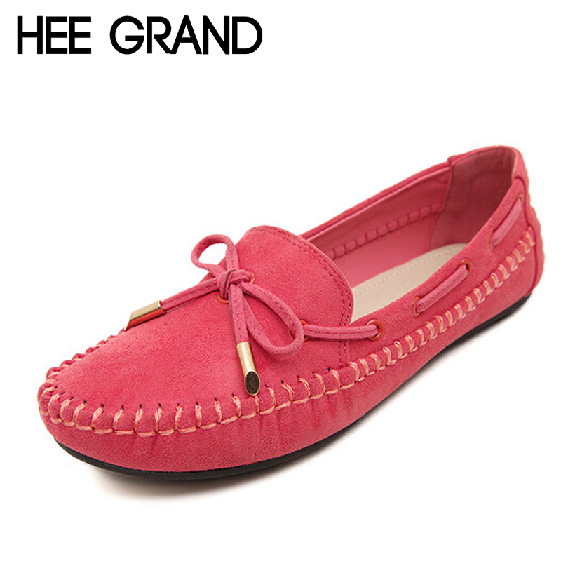 HEE GRAND Casual Bowtie Loafers Sweet Candy Colors Women Flats Solid Summer Style Shoes Woman 4 Colors Plus Size 35-41 XWD2263<br><br>Aliexpress