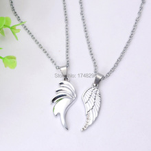 2015 Fashion Double Wings Best Friends Forever BFF Jewelry Gift Necklaces Colar Valentines Jewelry Gift(China)