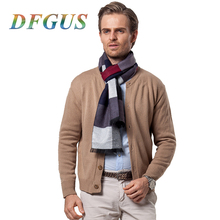 Men's Winter Scarf Luxury Brand Warm Cashmere Scarf High Quality Wrap Male poncho Foulard Blanket Scarf hijab Winter Scarves(China)
