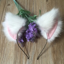 [Xinyu]Anime Neko Costume Cat Ears Fox Ears Clip Hairpin Party Club Accessories Cosplay cos Halloween Orecchiette(China)