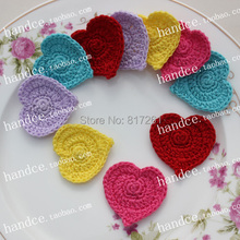 2015 new arrival 60 pic/lot colorful lace coaster doilies by heart for wedding decoration tablemat pads for tea table pot holder