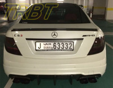 C63 AMG Rear Lip Carbon C300 Rear Bumper Lip W204 Sport Rear Diffuser Case For Mercedes Benz C63 2012 2013 2014(China)