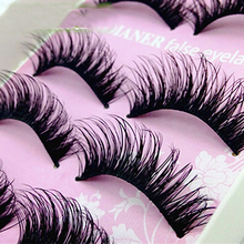 5Pair Thick Fake Eyelashes Natural False Eyelashes Volume Lashes Artificial Eyelashes Extensions False Lashes Makeup Lashes(China)
