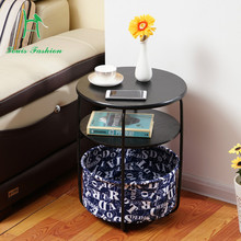 Small tea table simple Mini fashion  modern living room sofa side cabinet round bedroom bedside small tea table