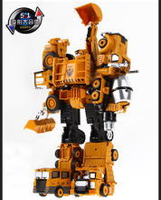 Genuine Metal Alloy Transformation Robots Engineering Vehicle Hercules Boy Children Deformation Toys(China)