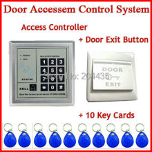 5YOA Access Control System RFID Keytab Proximity Door Lock 5YOA Brand New+RFID key tab card+Door exit push button switch(China)