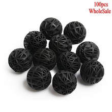100 pcs 16mm Aquarium Bio Balls Filter Media Wet/Dry Koi Fish Tank Pond Reefx(China)