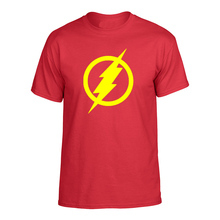 The Big Bang Theory Men`s T-shirt  Super Hero Flash  T-Shirts Anime Fashion Casual Male Tops Printing Men Tee Hot Sale