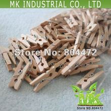 100 units 25 mm NATURAL Mini Peg Wooden Spring Clip Christmas Party Supply Wedding Baby Shower