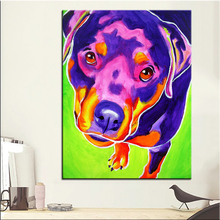 Large size Print Oil Painting rottweiler summer Wall painting Home Decorative Wall Art Picture For Living Room paintng No Frame