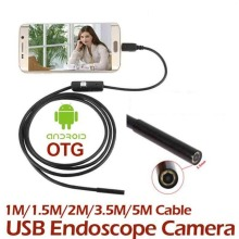 Portable 1M/1.5M/2M/3.5M/5M 7MM Mini Endoscope Waterproof Android Endoscope Inspection USB Borescope LED Tube Snake Micro Camera