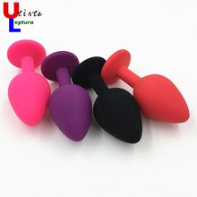 Buy Silicone Anal Toys Smooth Touch Colorful Diamond Butt Plug Insert Stopper,Sex Toys Adult Sex Products Women Men 3 Size