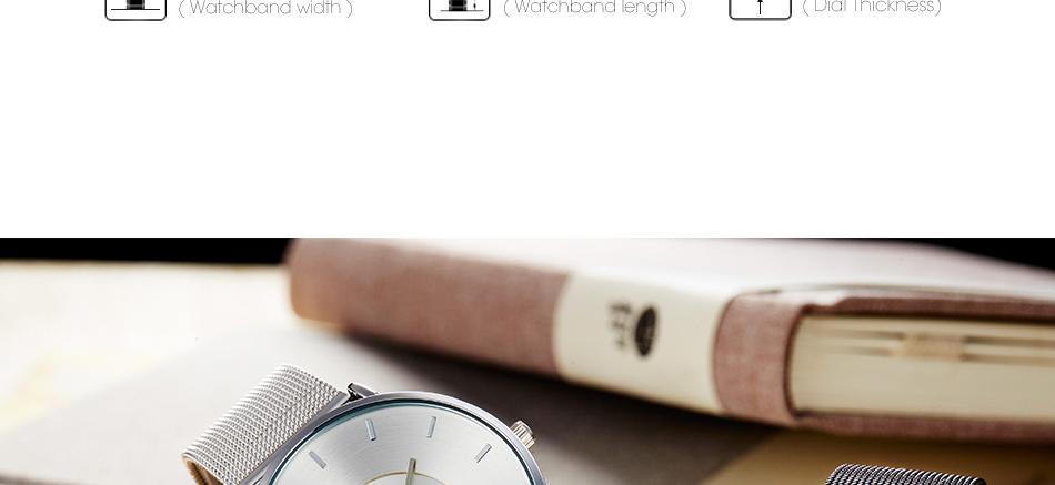 ساعة يد رقيقة نسائية عدة الوان 12