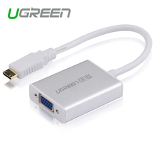 Ugreen Mini HDMI to VGA Adapter Converter with AV Audio Micro USB Cable for Camera DV Tablet  HDTV