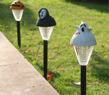 1X New Mini Solar Lawn Light Lamp Halloween Decorative Solar Garden Lamps Yellow Pumpkin/Black Ghost/White Ghost Solar Lights(China)
