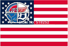 Detroit Pistons Detroit Red Wings Detroit Lions Detroit Tigers Flag US star and stripe Flag 3x5 FT  Banner009