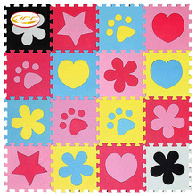 New! JCC baby Foam play puzzle floor mat,6pc/lot Interlocking Exercise Gym Rug carpet Protective Tile for kids(No edge)30x30cm