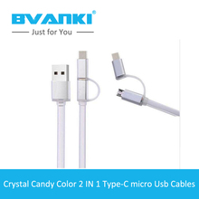 [Bvanki Type-C]50Pcs/Lot best products for import 2 In 1 Micro & Type-c 3.0 USB Data Sync Charge Cable for Macbook For Xiaomi