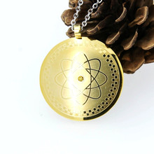 2017 New arrival ! Energy Round Pendant Necklace With Magnetic Germanium FIR Health Amulet Men Women Necklace(China)