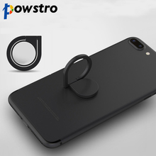 Powstro Magnetic All Metal Finger Ring Stand Magnet Holder 360 Rotating Mount Mobile Phone Drip Grip Universal for smartphone(China)