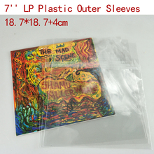 "BRAND NEW 50PCS 7"" LP Record Vinyl Plastic Protect Bag Resealable Outer Sleeves 18.7*18.7+4cm"