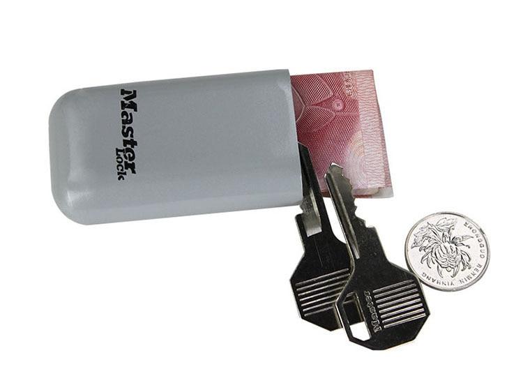 Mini Key Safe Box Outdoor Backpack Hanging Metal Hidden Password Lock Zinc alloy Fixed Code Lock Portable Key Storage Box (4)
