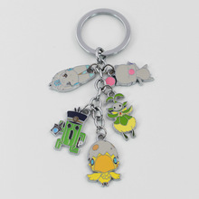 Fashion Game Final Fantasy Action Figure Toys Colorful Chocobo Metal Model Dolls Toys Keychain Pendant Collection For Kids Gift