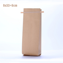 5 pcs 9x33cm Foil Side Gusset Tea Bags / Kraft Tea Pouches / Paper Bags with Tin Tie(China)
