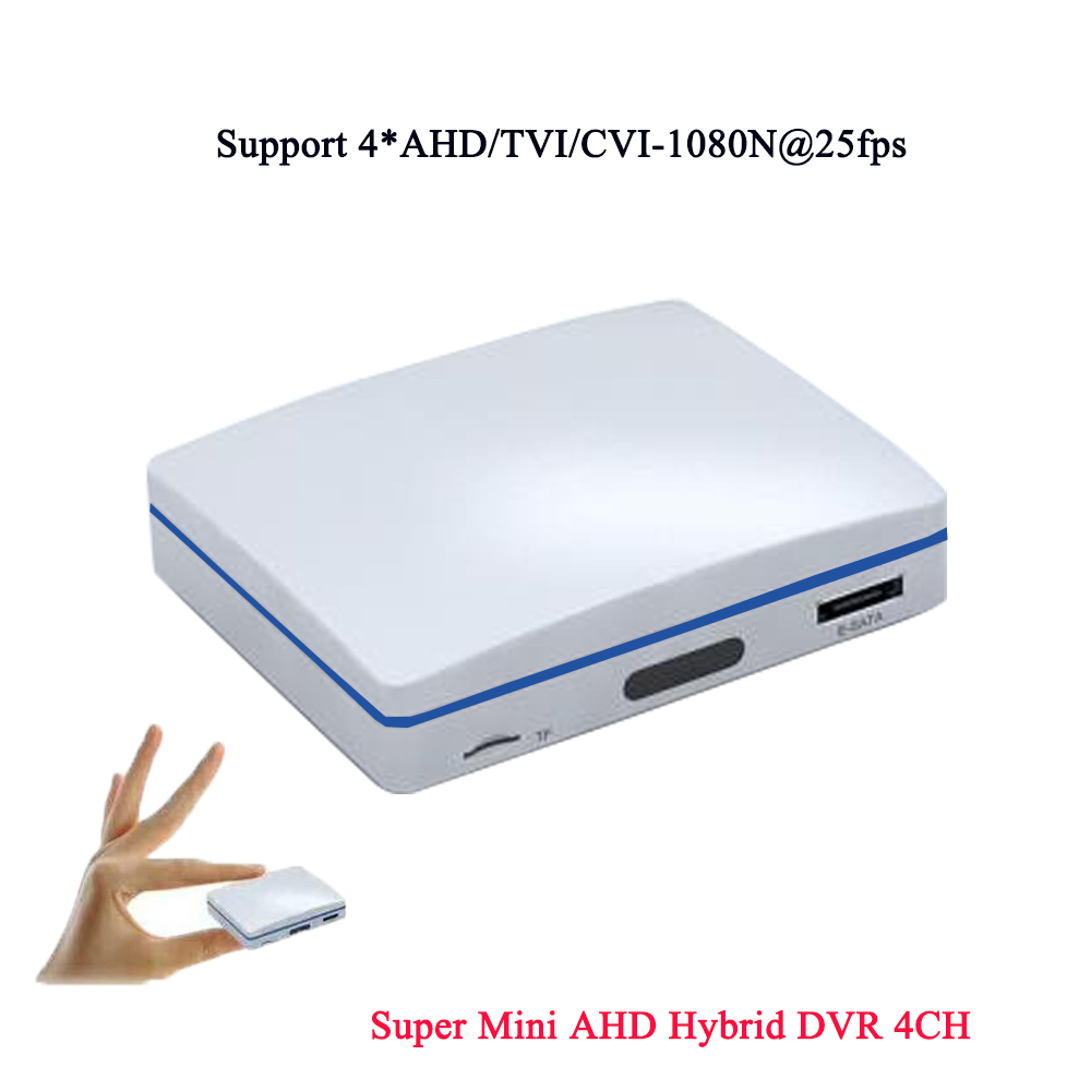 JIVISION Super Mini DVR 4CH HD Recorder CCTV Hybrid Recorder 1080P AHD/TVI/CVI/ IP DVR NVR XMEYE P2P Security AHD DVR<br>