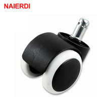 "NAIERDI 50KG Universal Mute Wheel 2"" Replacement Office Chair Swivel Casters Rubber Rolling Rollers Wheels Furniture Hardware"