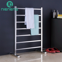 Nieneng Electric Towel Rail Heating Bathroom Appliance Towel Racks Electrical 304 Stainless Steel Drying Holder Fixture ICD60601(China)