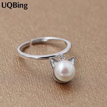 925 Sterling Silver Ring 925 Silver Rings With Cat Pearl For Women Fashion Jewelry Top Quality Free Shipping Silver Jewelry