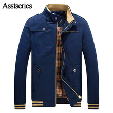 2017 New Brand Men's Jackets and Coats Fashion Slim Fit Jacket Cotton Spring Autumn Clothing Male Casual Overcoat 50(China)
