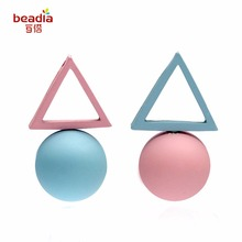 New Fashion 1 pair/bag Korean Style Asymmetry irregular shape Different Candy Color Earrings 11 Color For Women Jewelry Craft