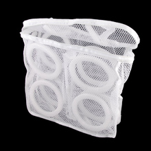 Portable Foldable Breathable Mesh Sneaker Tennis Boots Shoes Laundry Washing Bag Dry Bag (White)