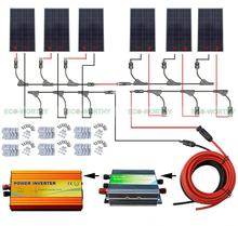 960W Solar System Complete Kit: 6pcs 160W Solar Panel with 45A Regulator 220V Inverter off Grid(China)