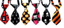 30pcs Pet Tie Mix Color Skull Style Dog Tie Accessories Cats Dogs Bowtie Collar Holiday Decoration  Halloween Grooming