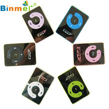 Levert DropshipBinmer  Mirror Clip USB Digital Mp3 Music Player Support 1-8GB SD TF Card Oct 12 8*