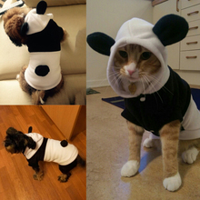 2016 New Fashion Pet Dog Clothes For Dogs Pets Costume Clothing Fleece Panda Ear Hoody Clothes Pullover Coat Costume Outwear(China)