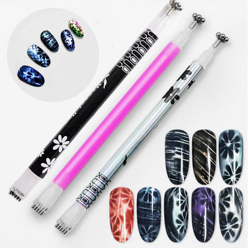 Nail-Art-Magnet-Stick-Cat-Eyes-Double-Headed-Magnet-for-Nail-Gel-Polish-3D-Line-Strip
